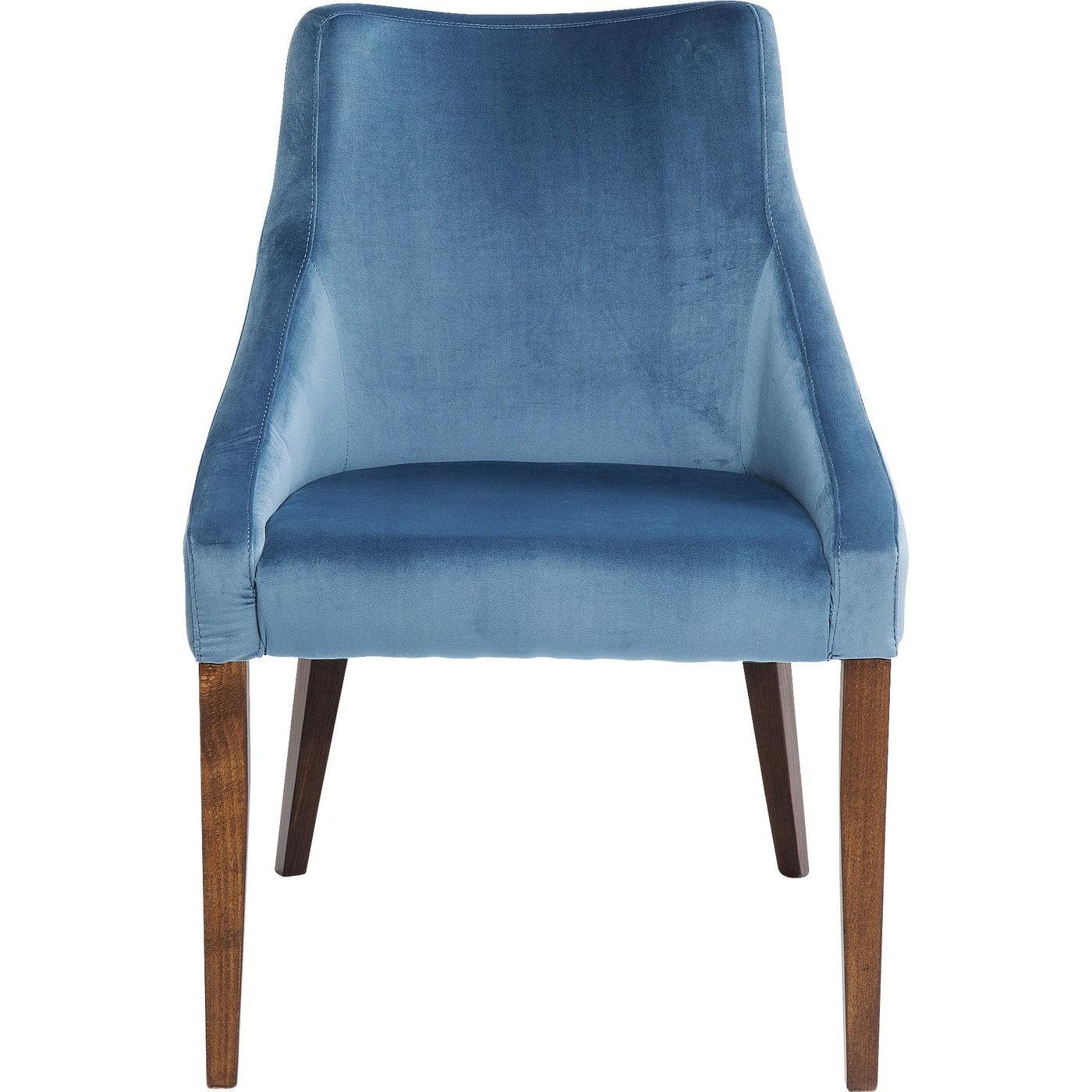 Chaise en velours bleu pétrole et hêtre laqué
