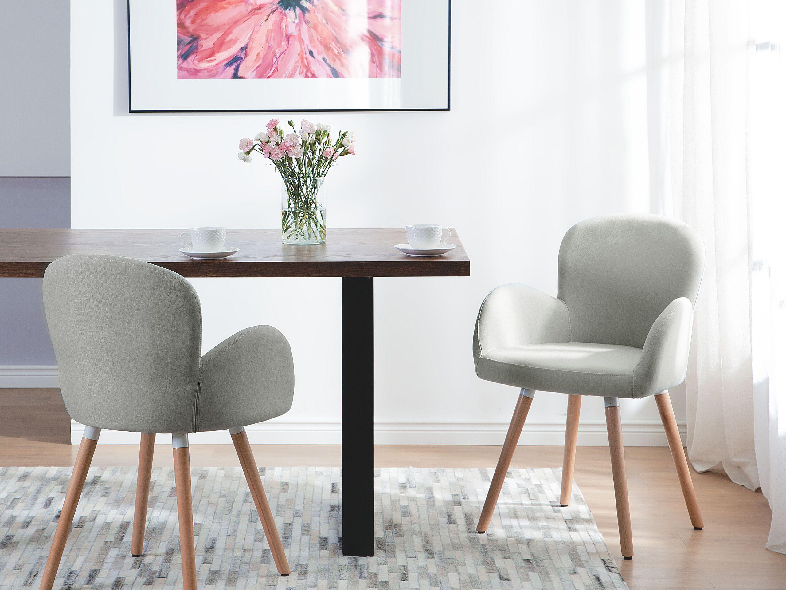 Lot de 2 chaises grises claires