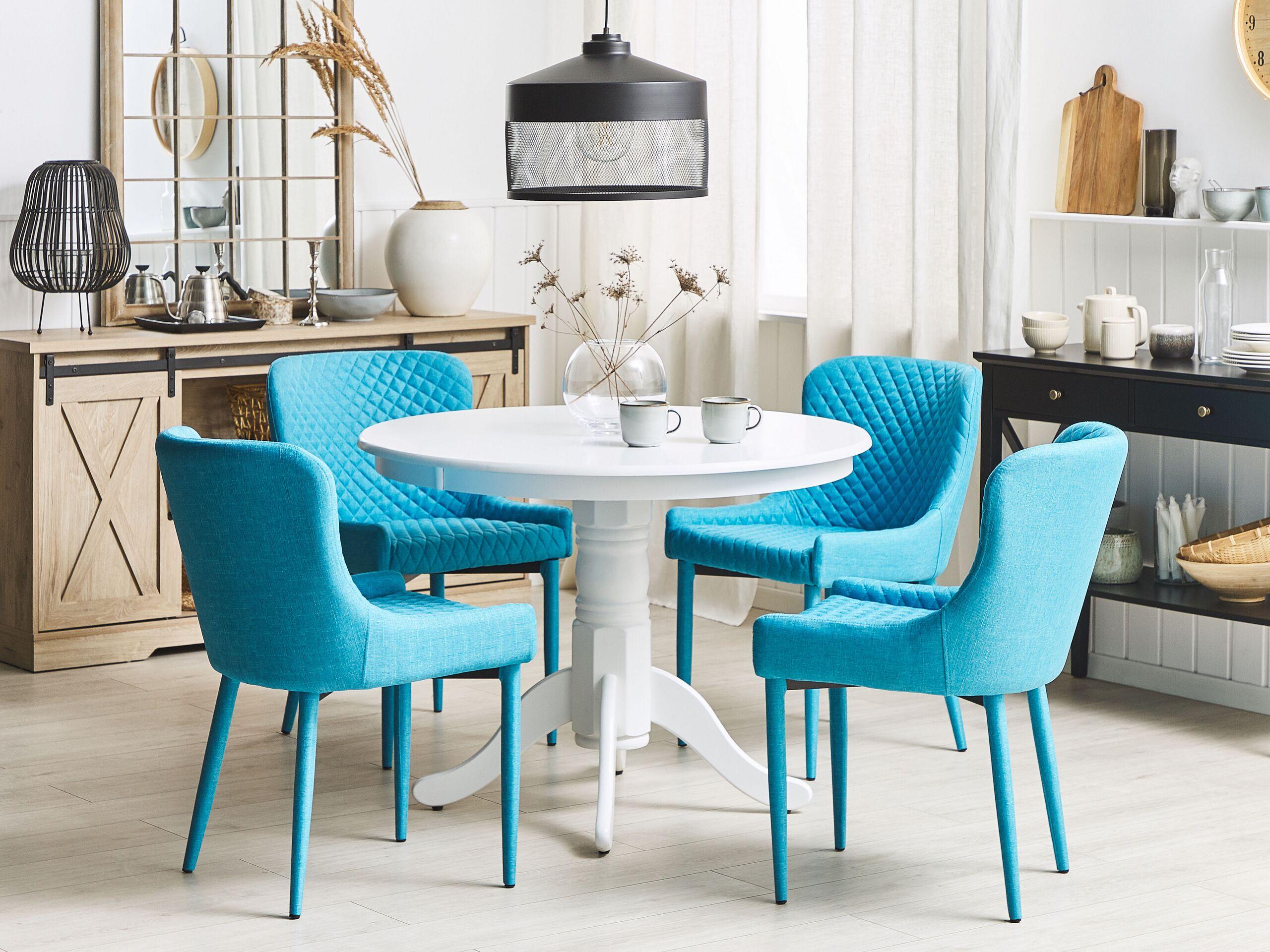 Lot de 2 chaises en tissu bleu clair