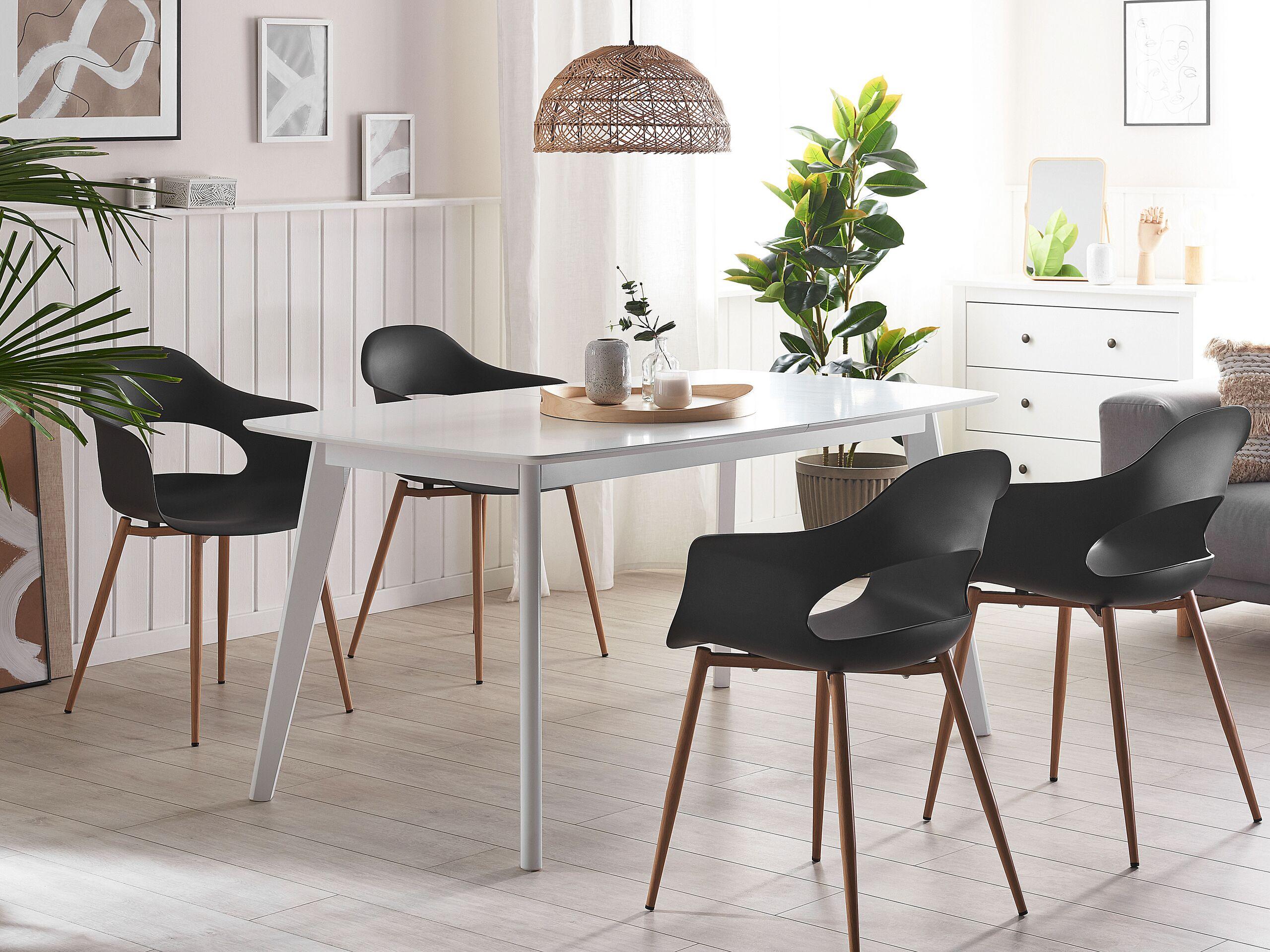 Set de 2 chaises de salle à manger noires