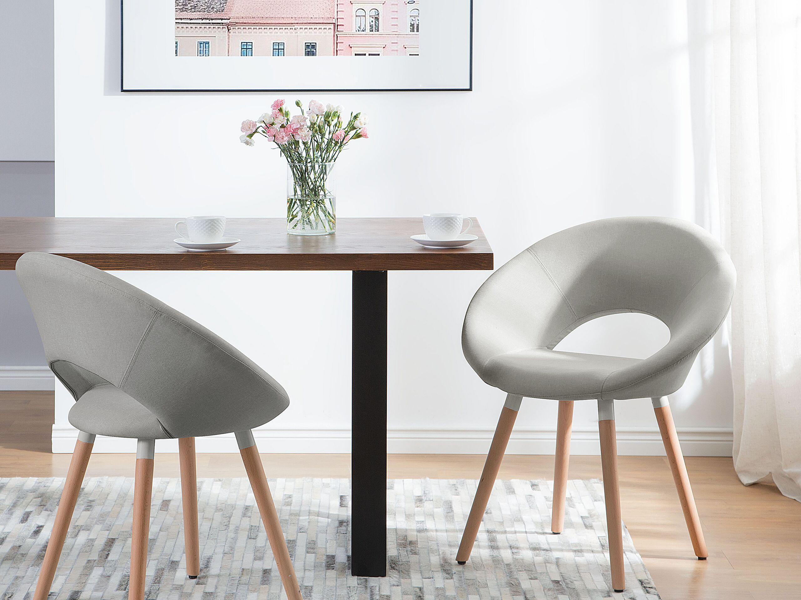 Lot de 2 chaises design gris clair