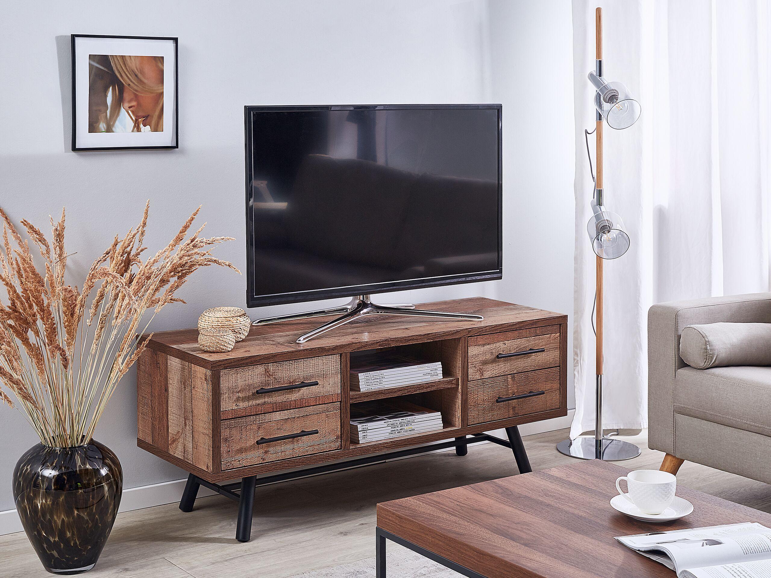Meuble TV en bois foncé