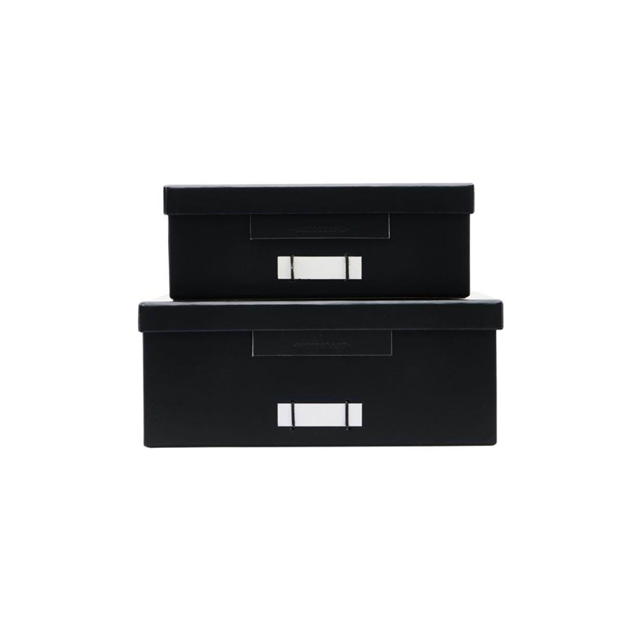 Boîtes de rangement en carton noir