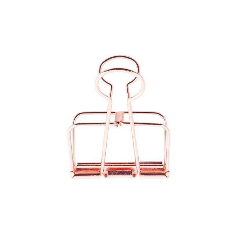 Pinces double-clip cuivré 19mm - Lot de 6