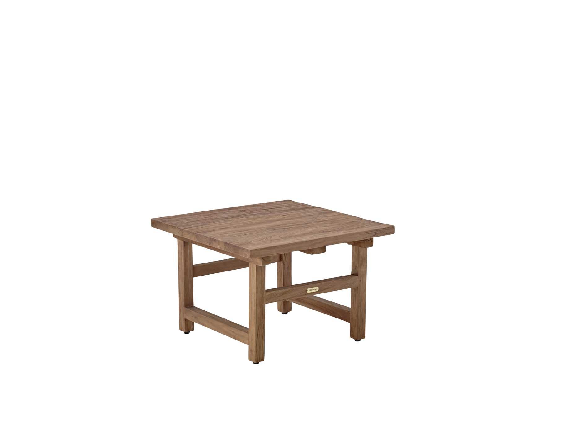 Table basse carrée en teck 60x60cm