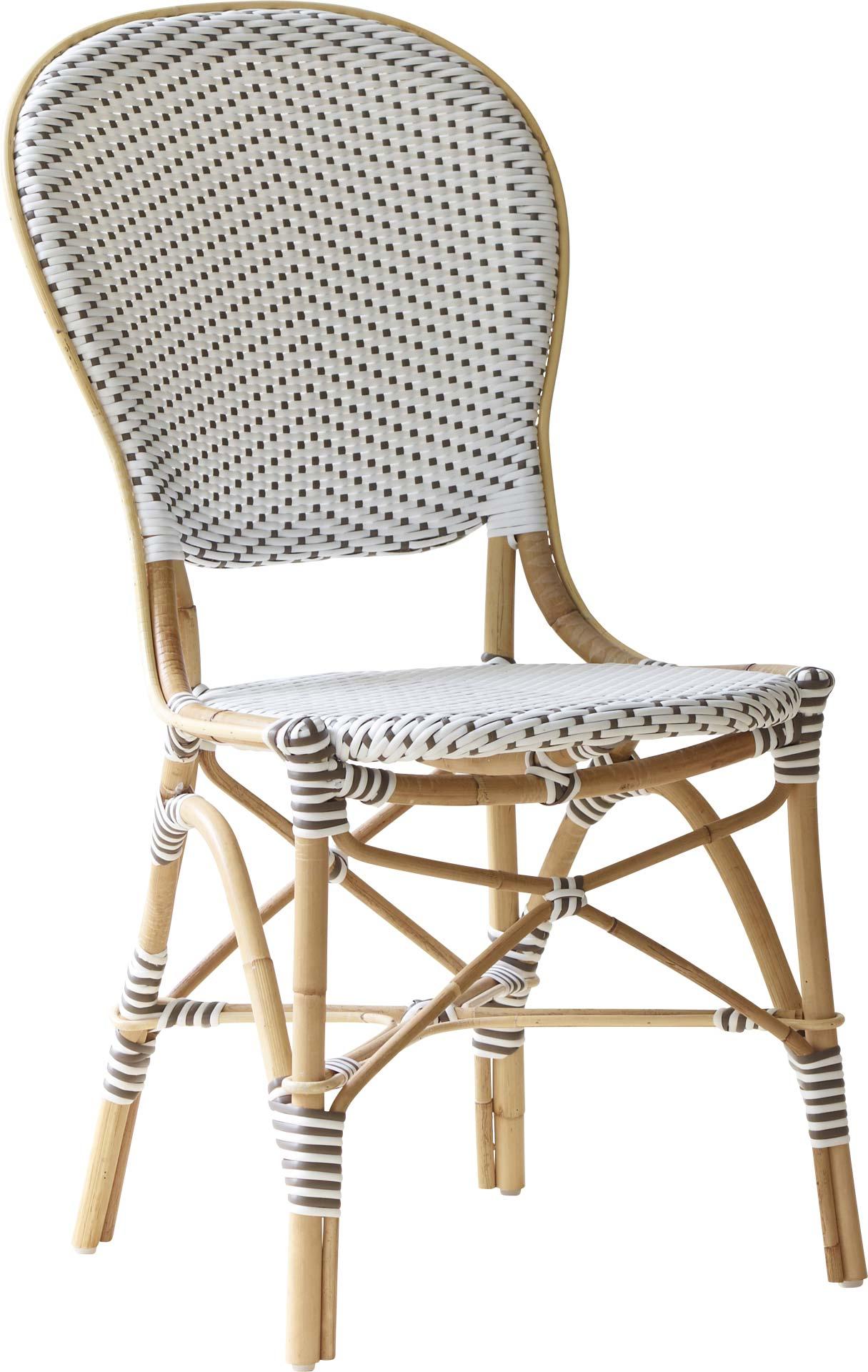 maison du monde Chaise repas en rotin et fibre synthétique blanche