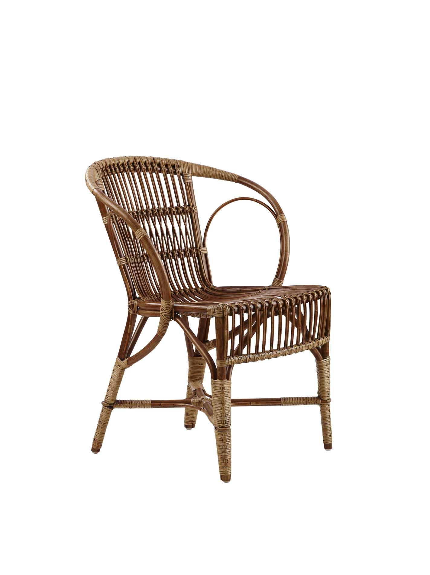 Chaise repas en rotin antique