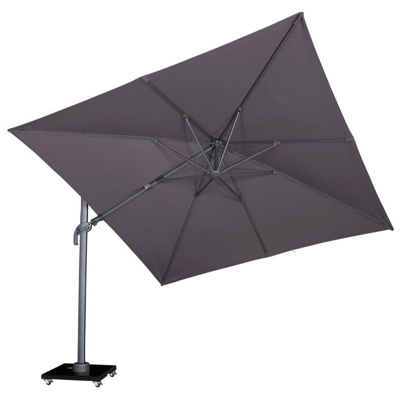 Parasol déporté inclinable anthracite 3x3m