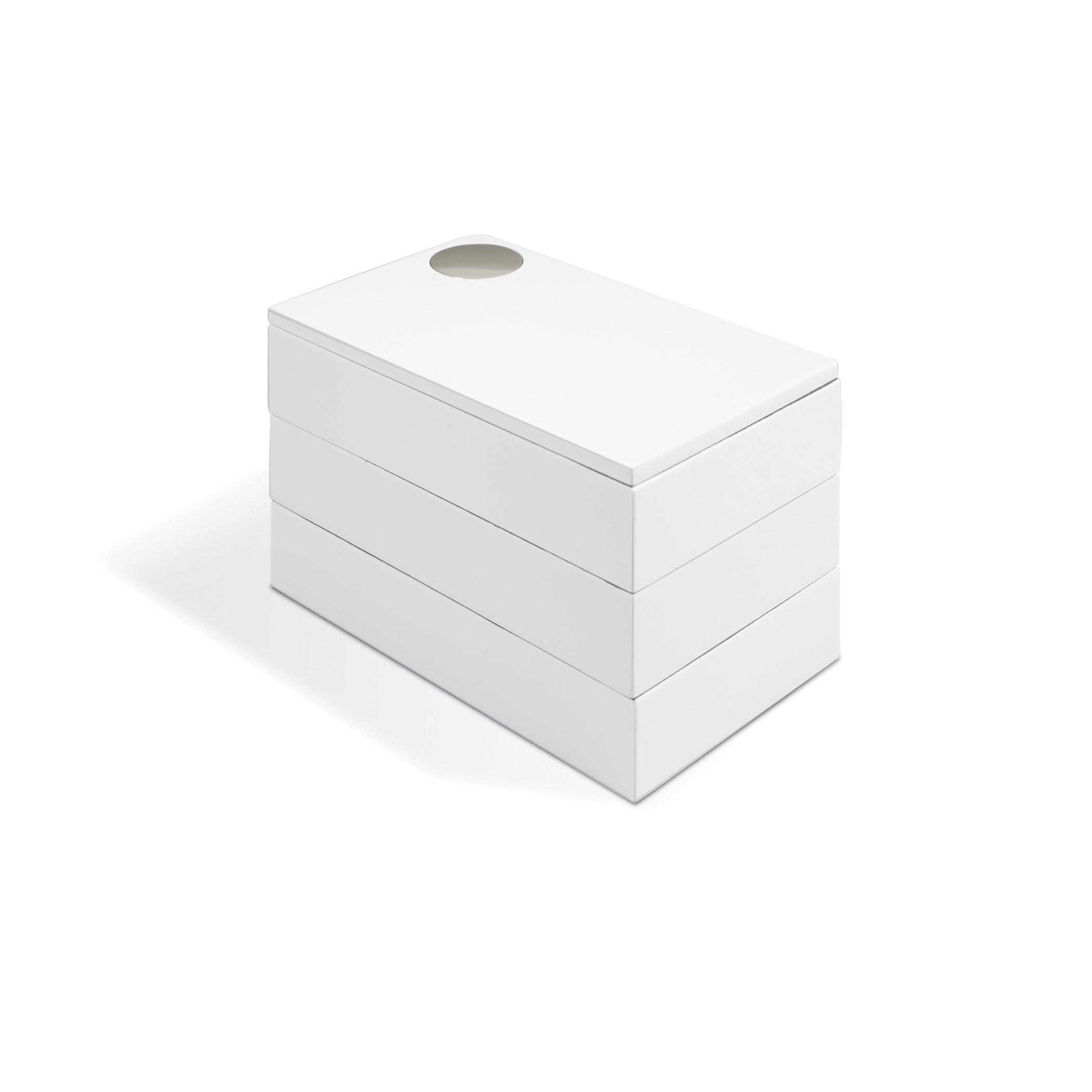 Boîte à bijoux en bois blanc