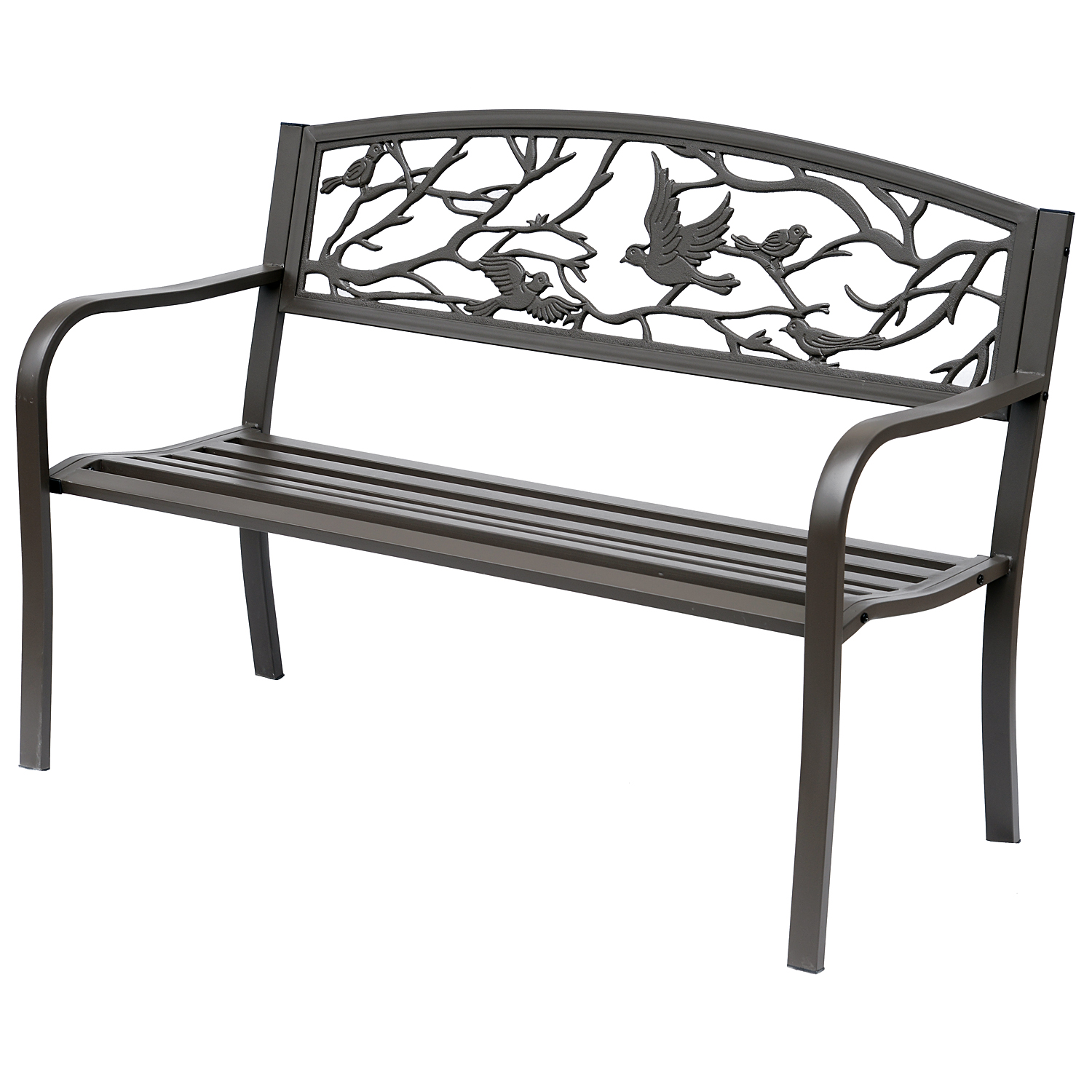 Banc 3 places de jardin style rural chic