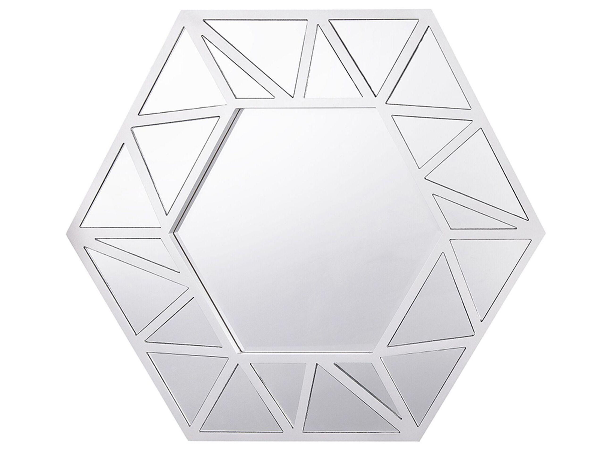 Miroir 80 x 70 cm argenté