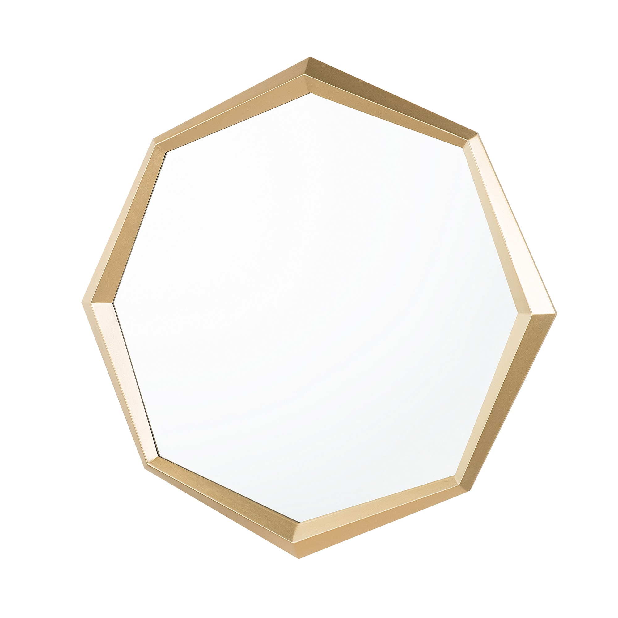 Miroir mural doré 71 x 78 cm