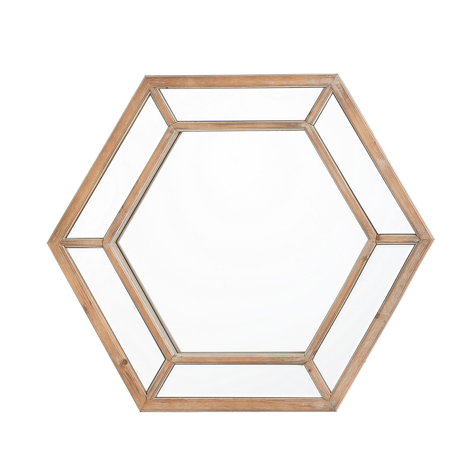 Miroir en bois marron clair 71 x 81 cm