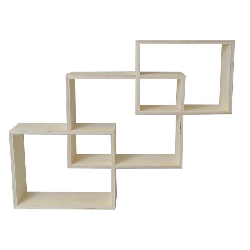3 étagères en bois imbriquées 60x45cm