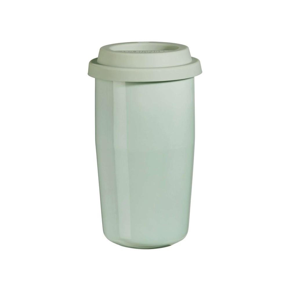 Mug isotherme en porcelaine vert menthe 0,35cl