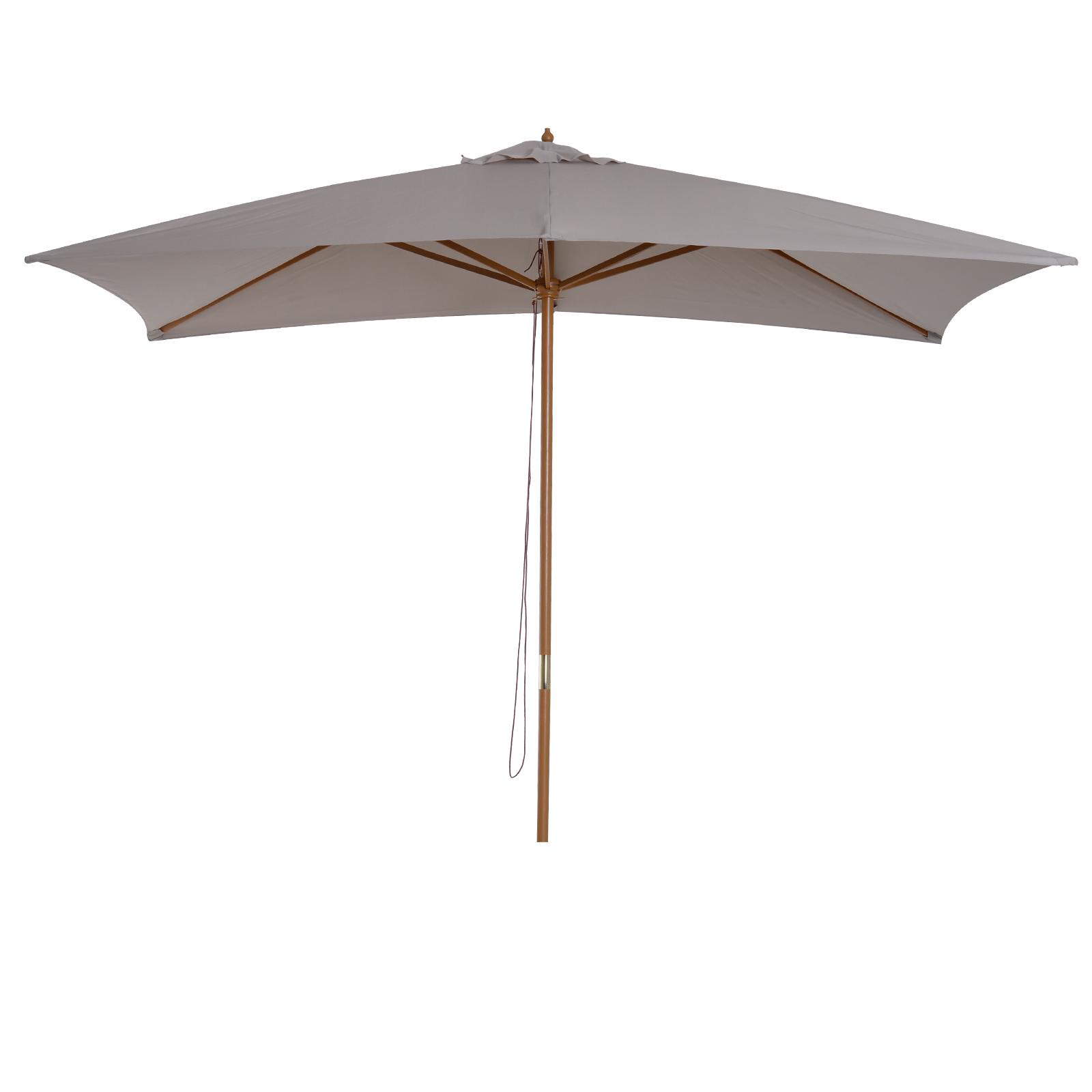 Parasol droit rectangulaire gris