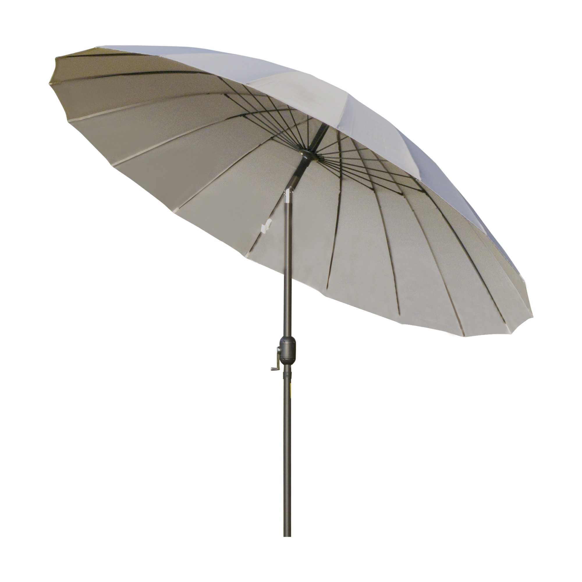 Parasol inclinable rond gris