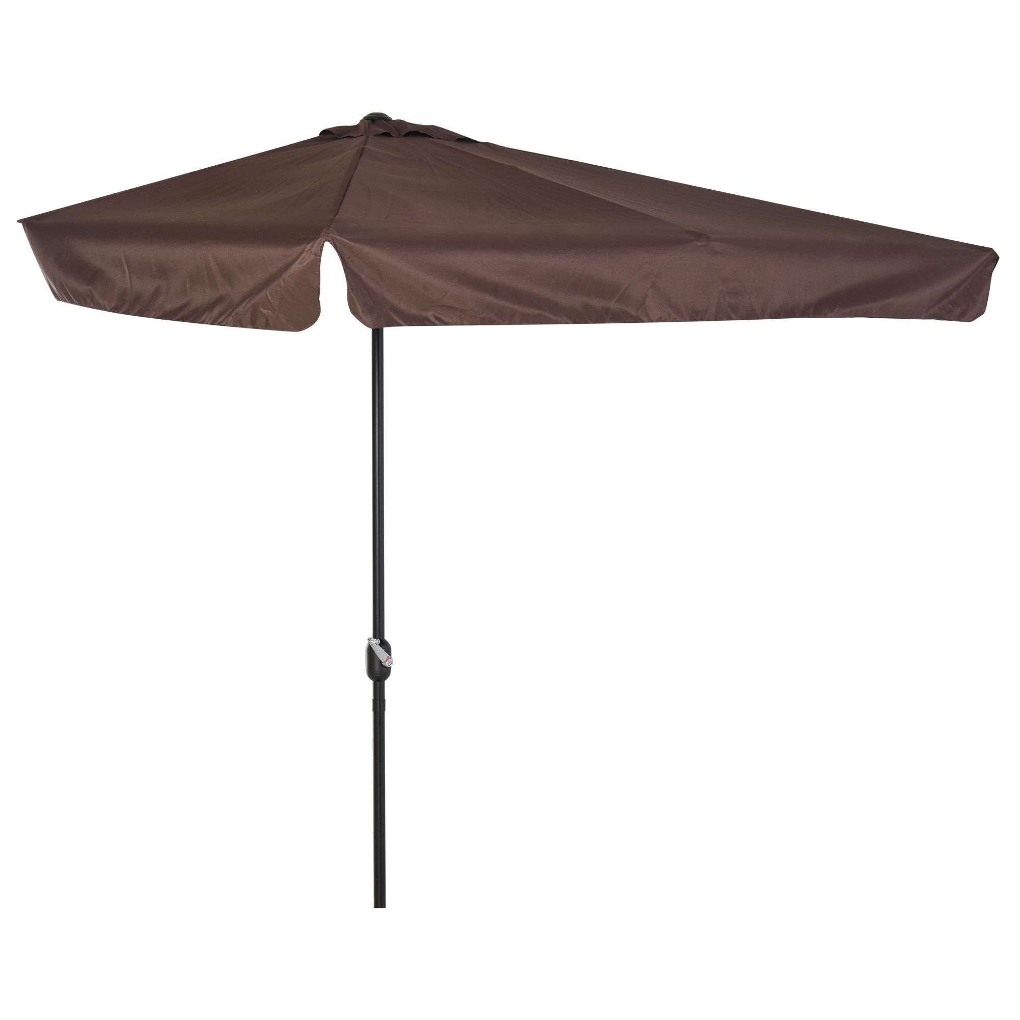 Demi parasol - parasol de balcon chocolat