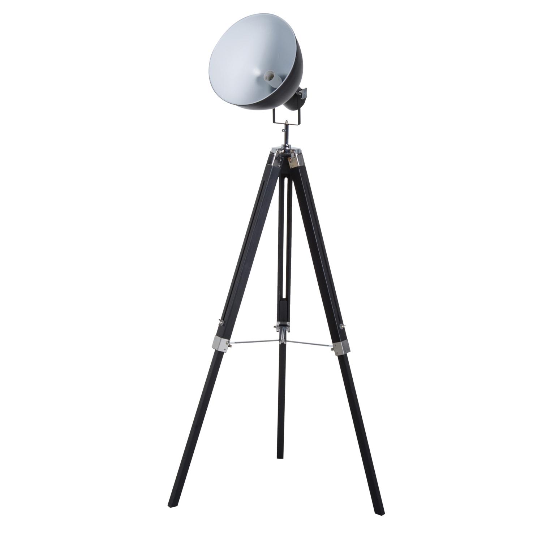 Lampadaire trépied style industriel hauteur réglable H108-152 cm