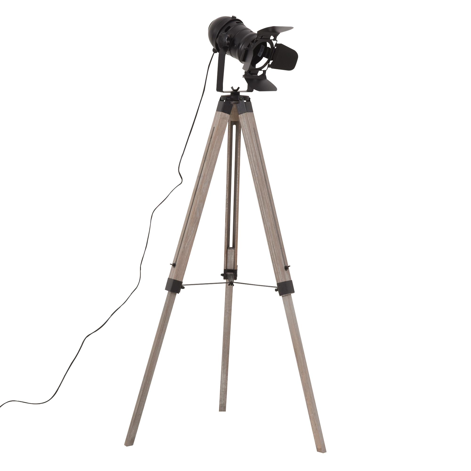 Lampadaire trépied projecteur H140cm