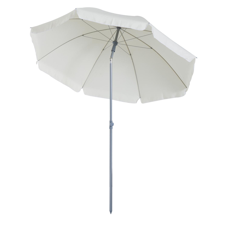 Parasol inclinable octogonal crème