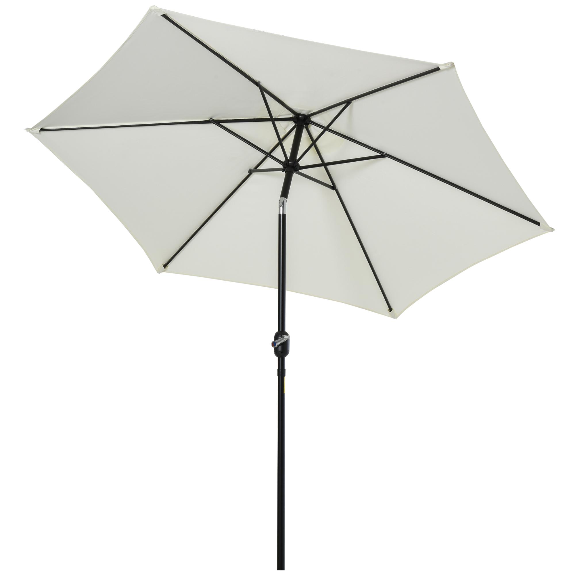 Parasol inclinable de jardin crème