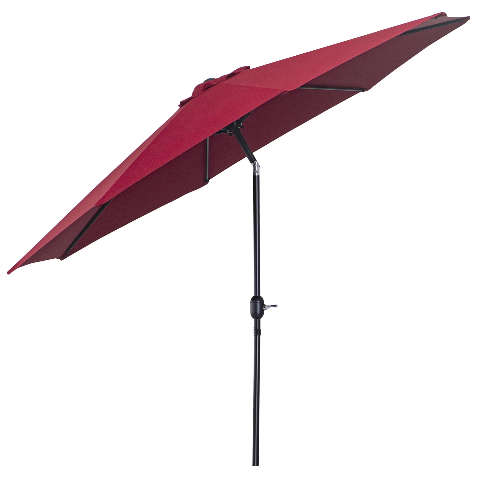 Parasol en aluminium rond inclinable bordeaux