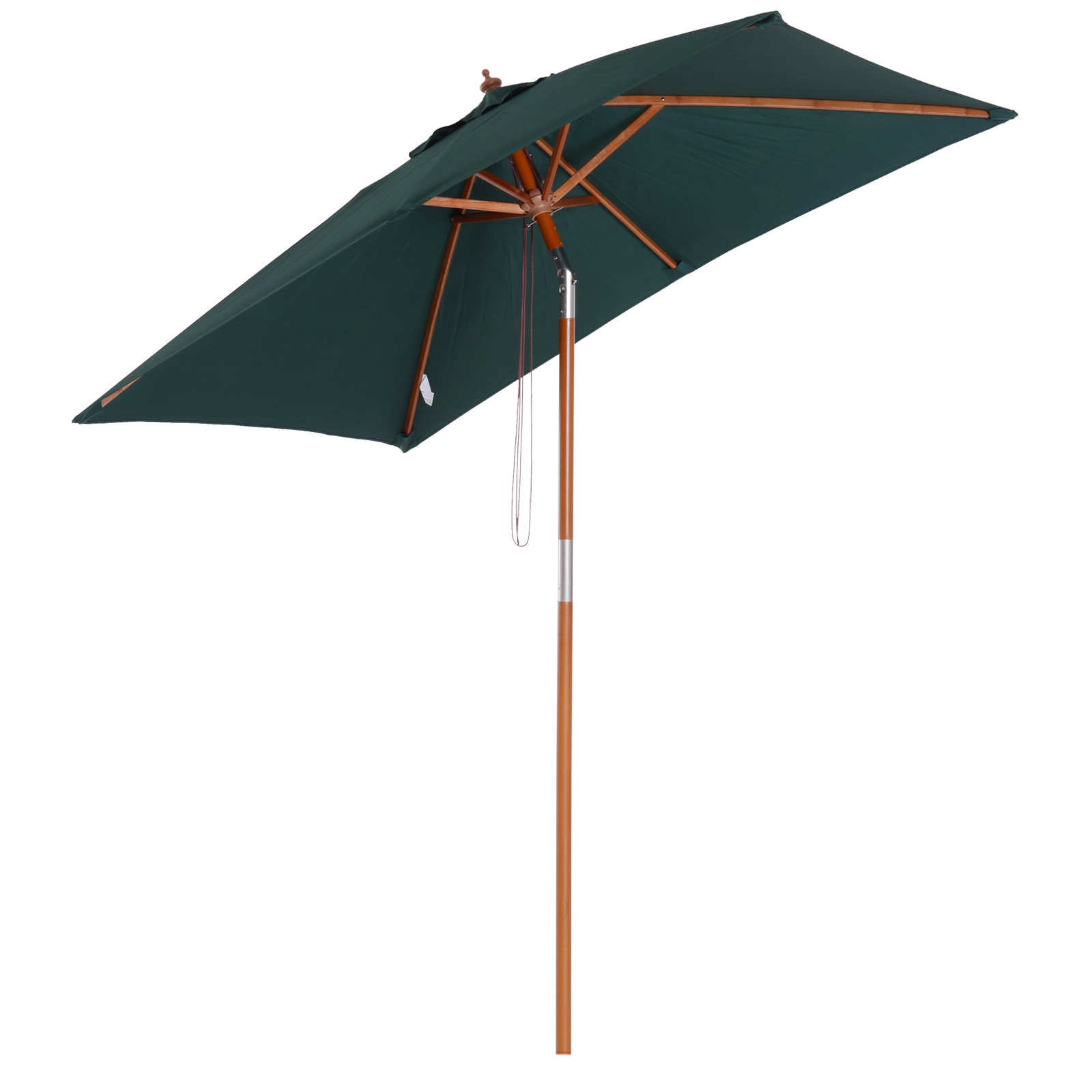 Parasol rectangulaire inclinable vert