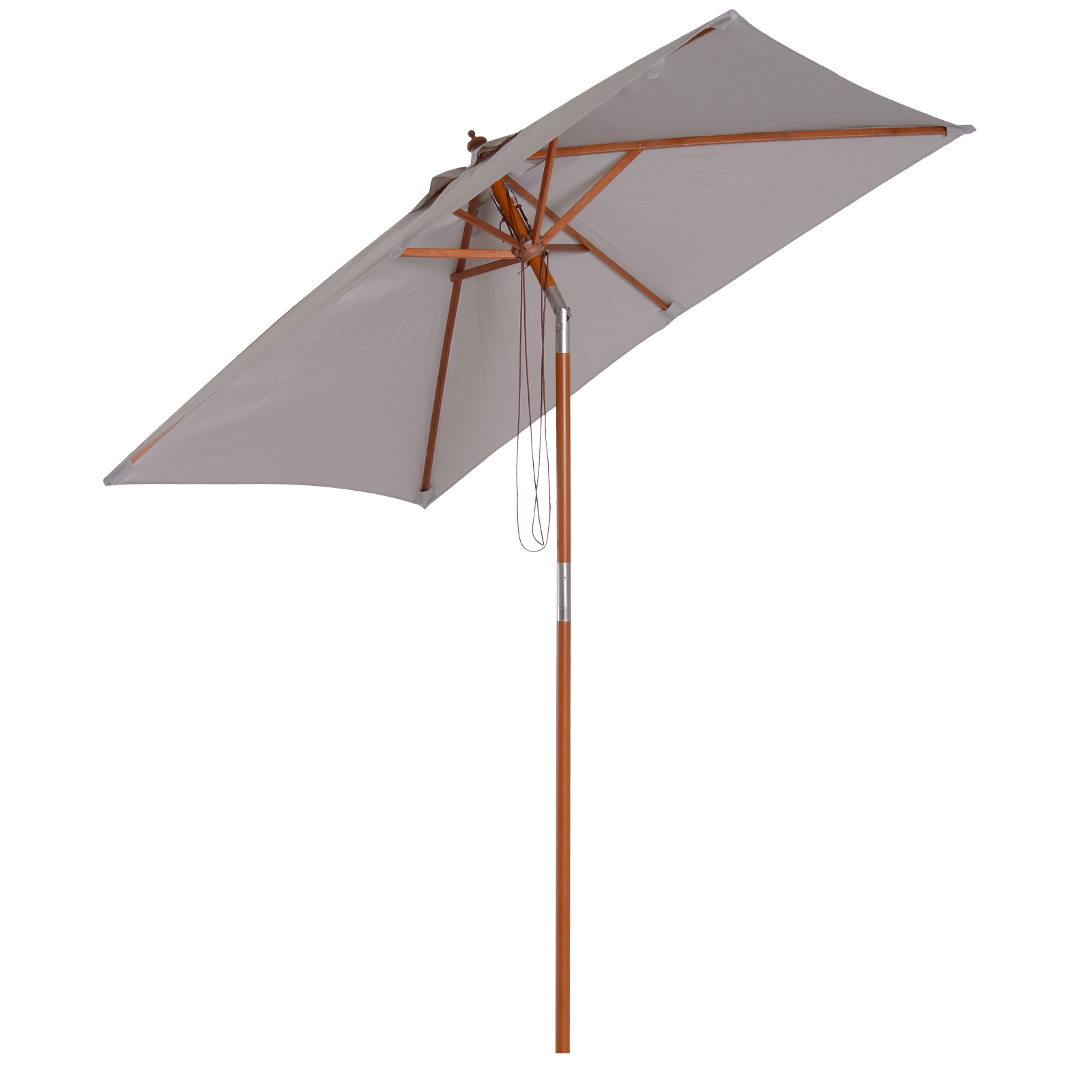 Parasol rectangulaire inclinable gris
