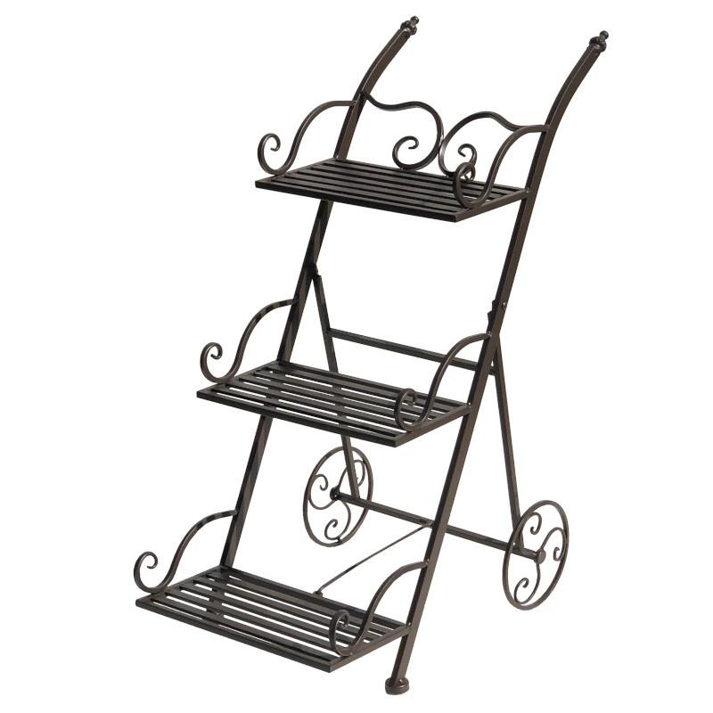 Chariot escalier porte plante pliable