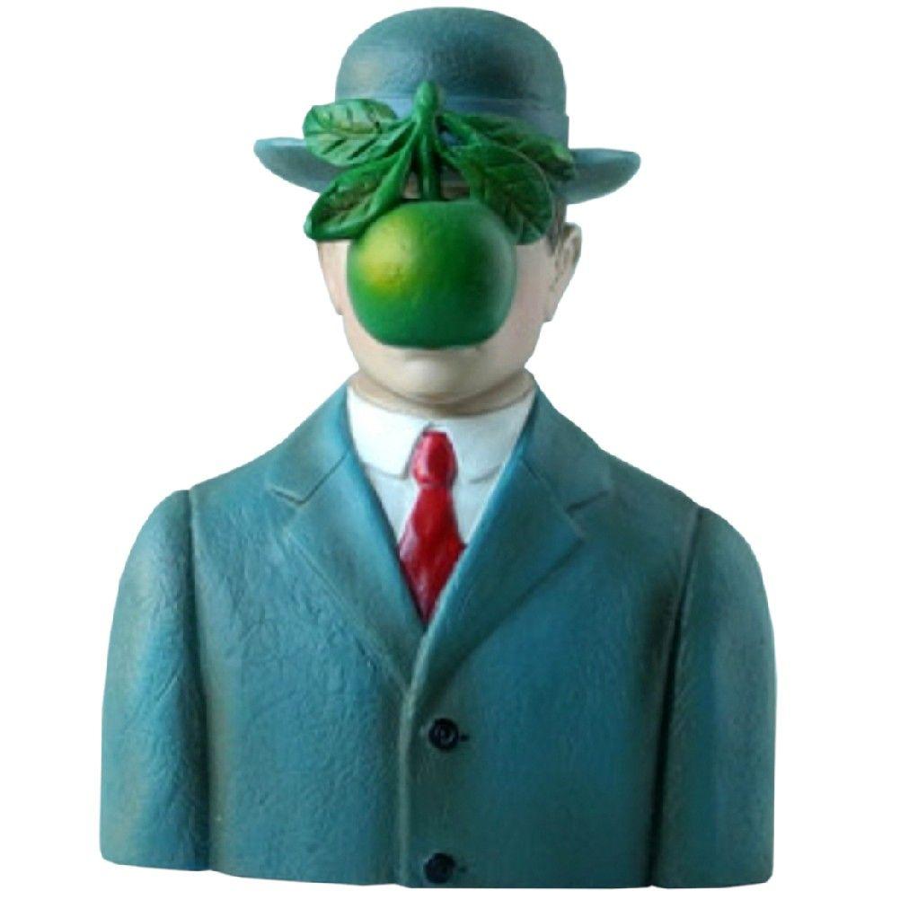 Petite statuette le fils de l'homme de Magritte H9,5cm