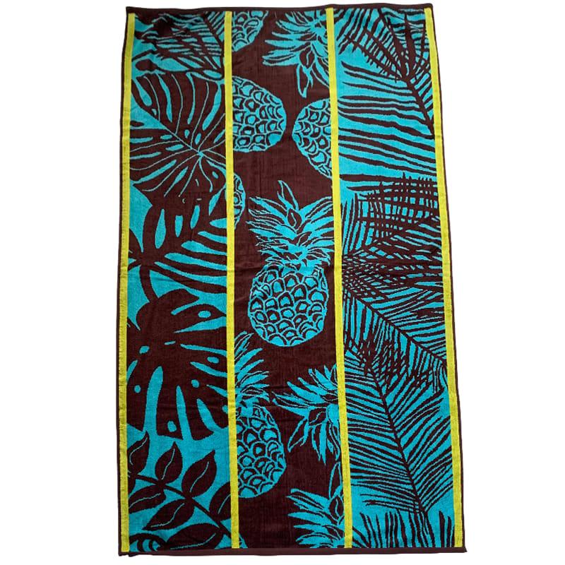 Serviette de plage éponge velours marron hortus 90 x 170