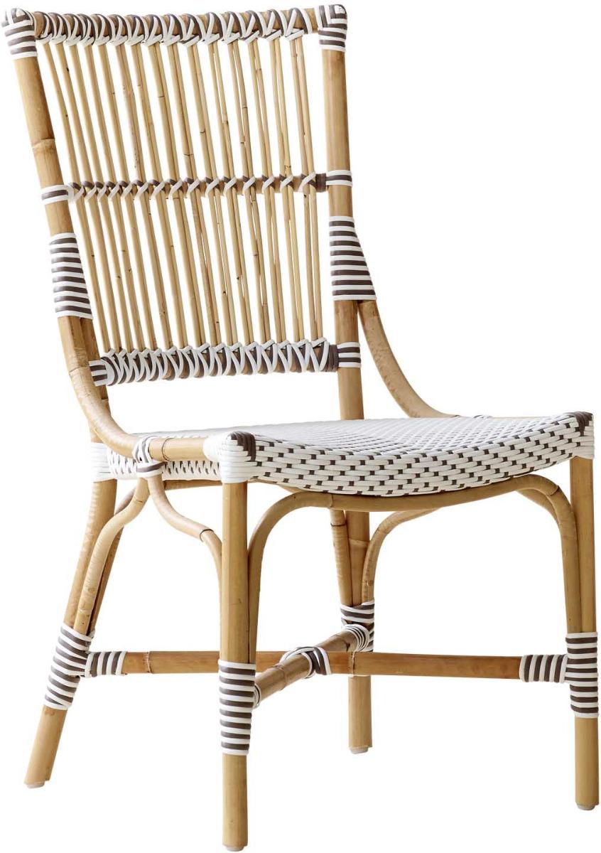 Chaise repas en rotin et fibre synthétique