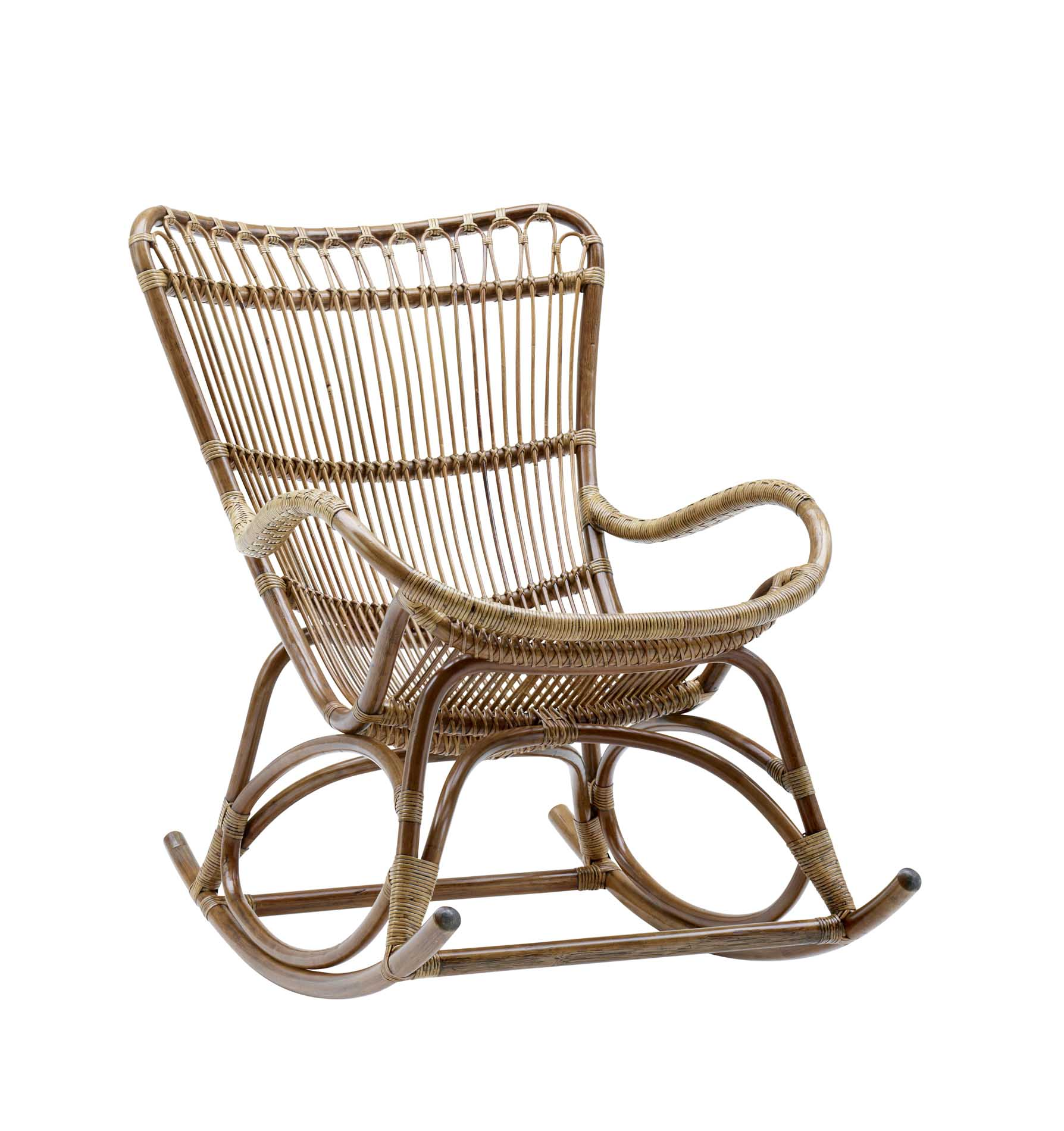 Rocking chair en rotin antique