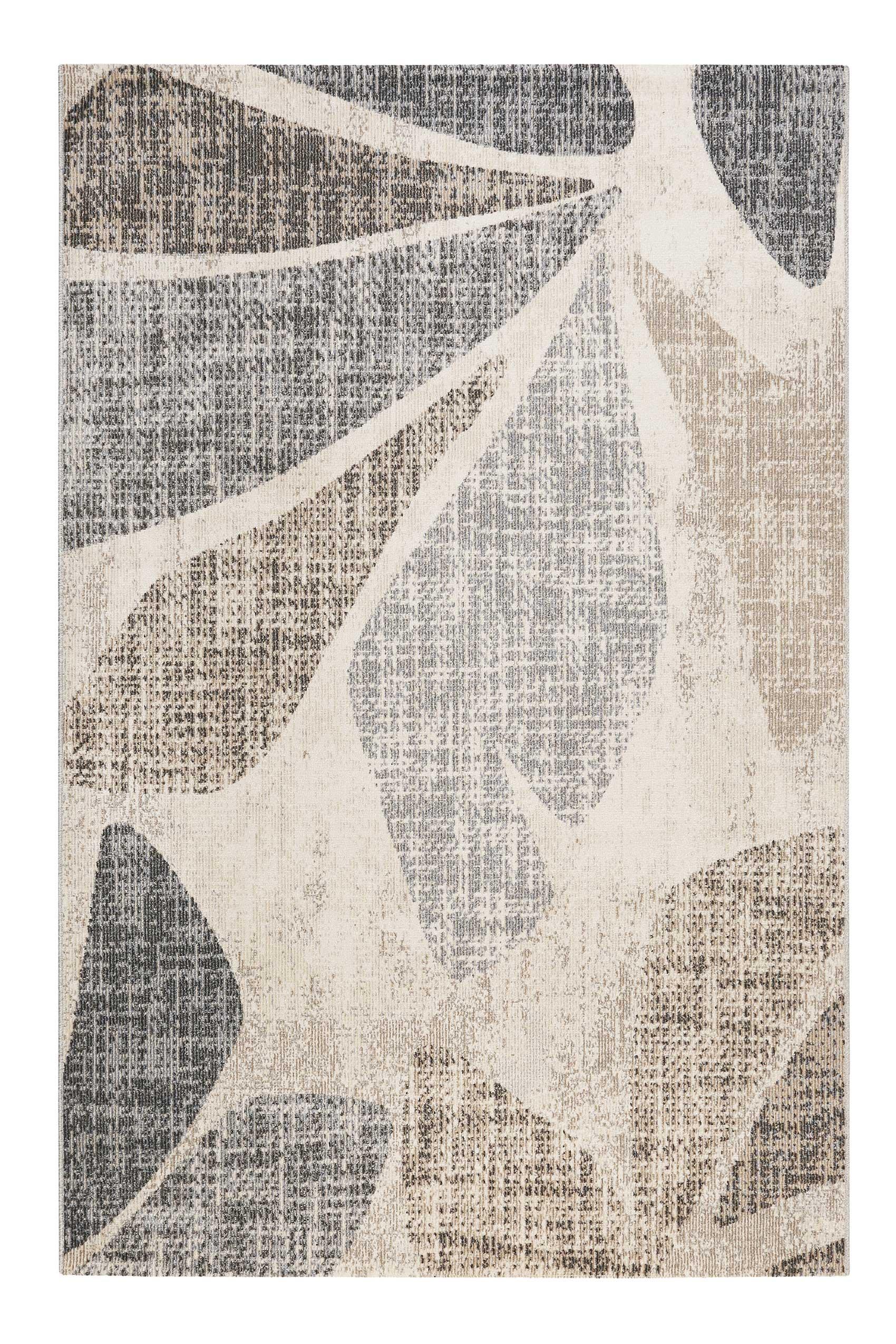 Tapis in/outdoor design inspiration nature gris beige marron 133x200