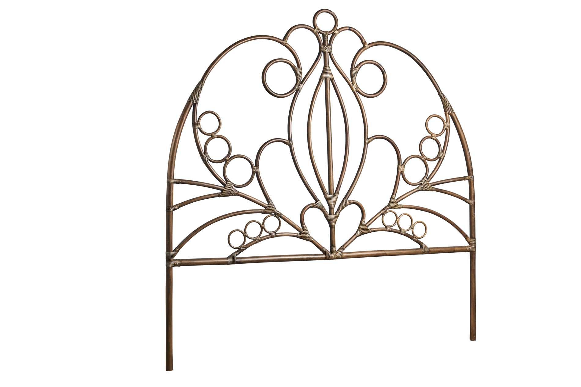 Tête de lit en rotin L.180cm antique