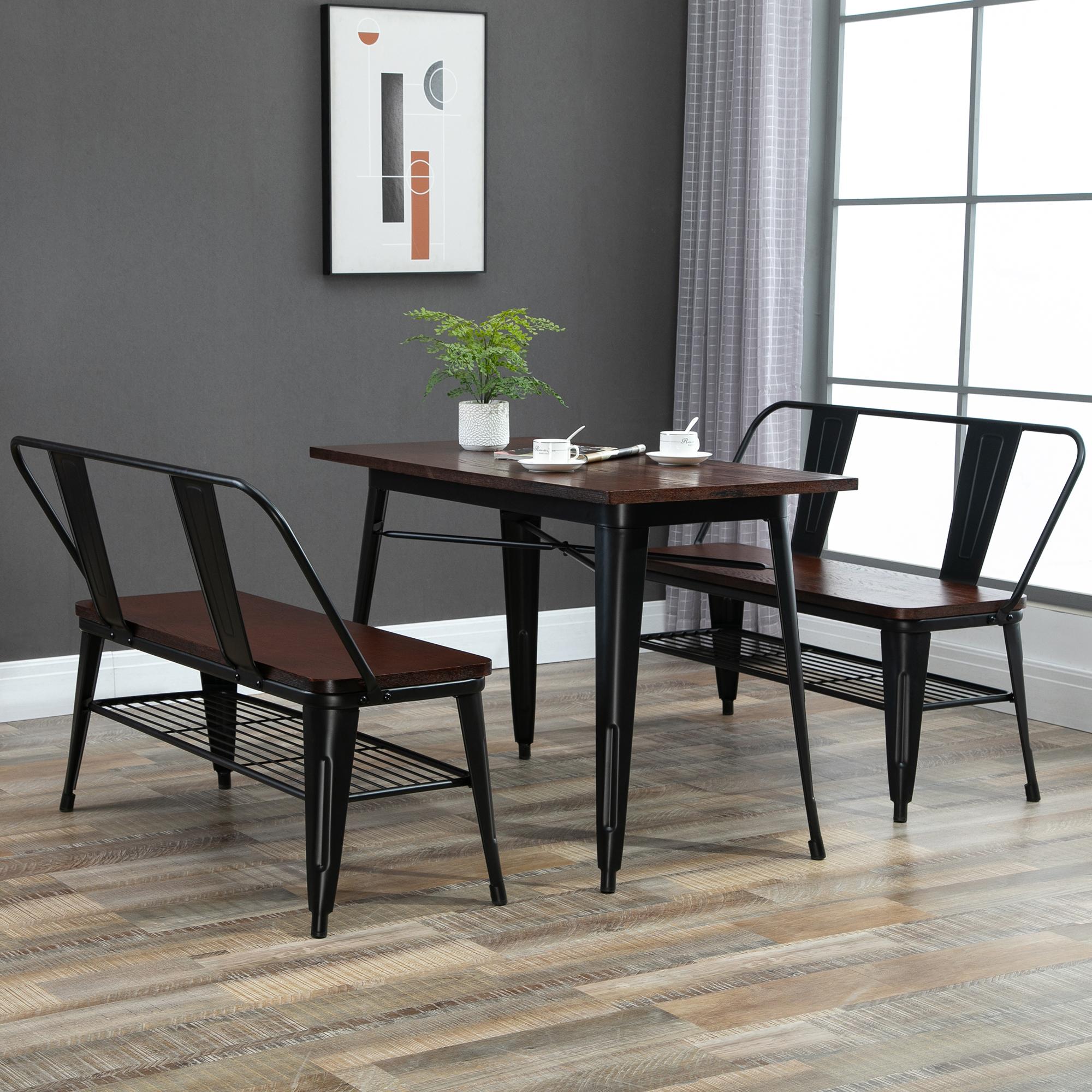 Table à manger design industriel 6 places