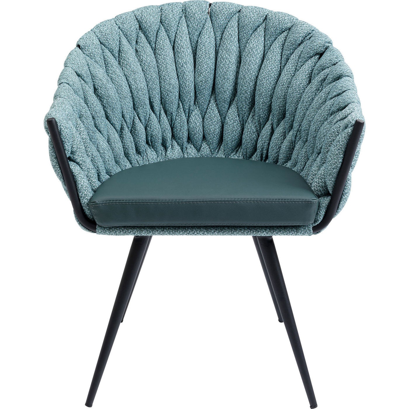 maison du monde Chaise avec accoudoirs bicolore bleu-vert et acier