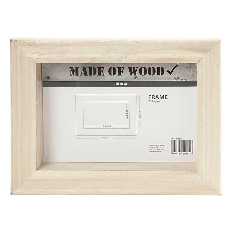 Cadre en bois 3D 23,2x18,2x2,5cm
