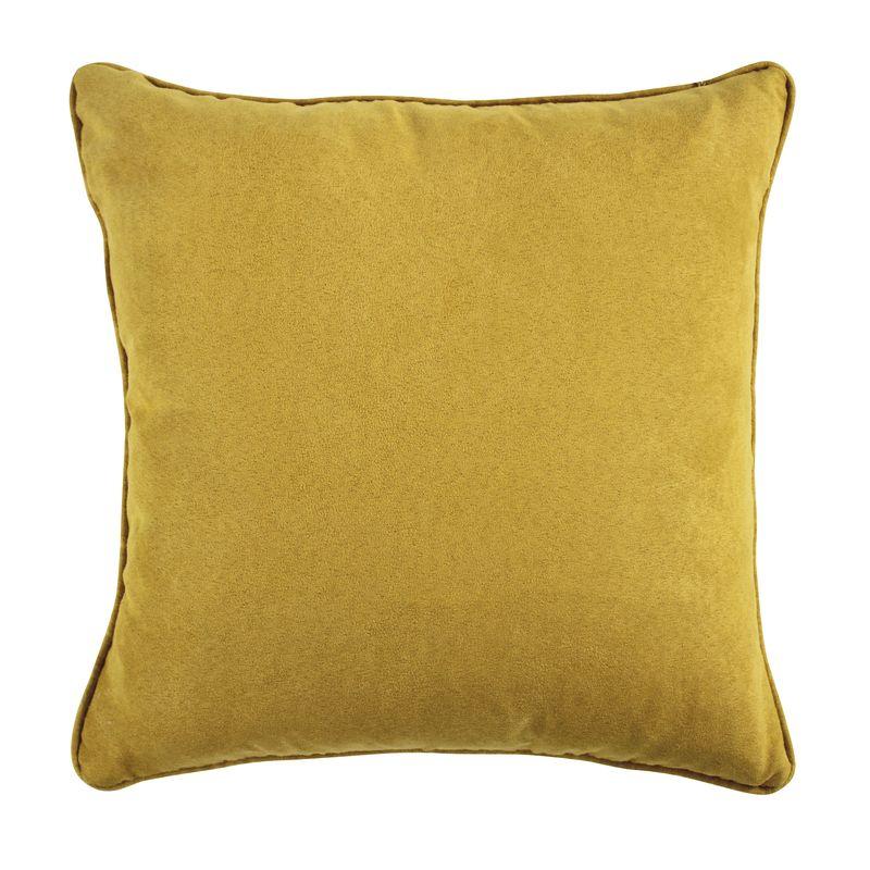 Coussin en suédine jaune 40x40