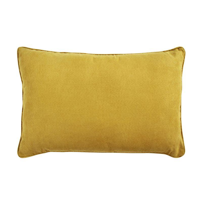 Coussin en suédine jaune 60x40