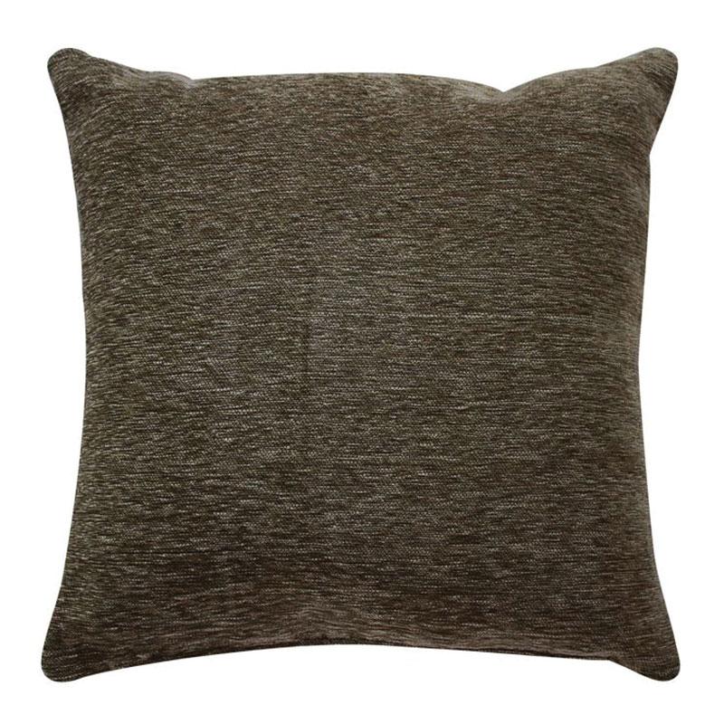 Coussin texturé vintage marron écorce 70x70