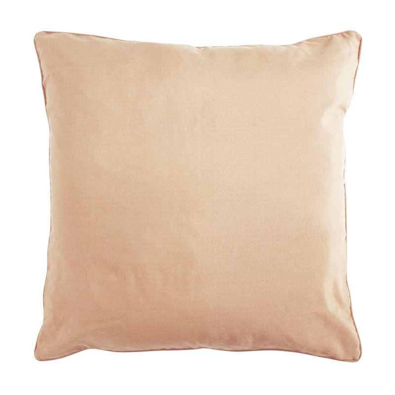 Coussin de sol en polycoton rose nude 70x70