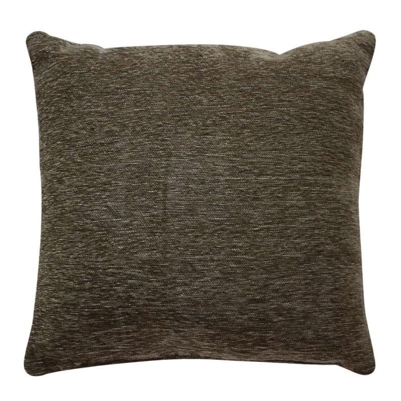 Coussin texturé vintage marron écorce 45x45