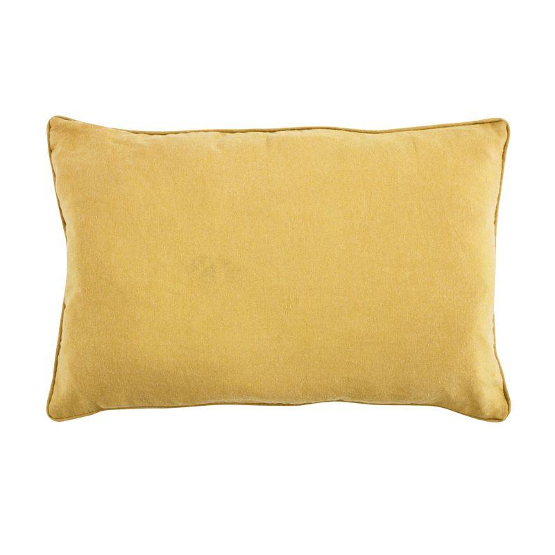 Coussin en polycoton jaune 60x40