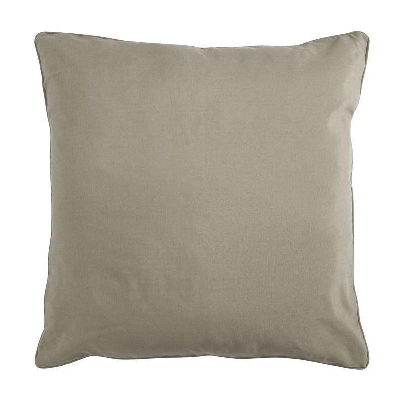 Coussin de sol en polycoton taupe 70x70