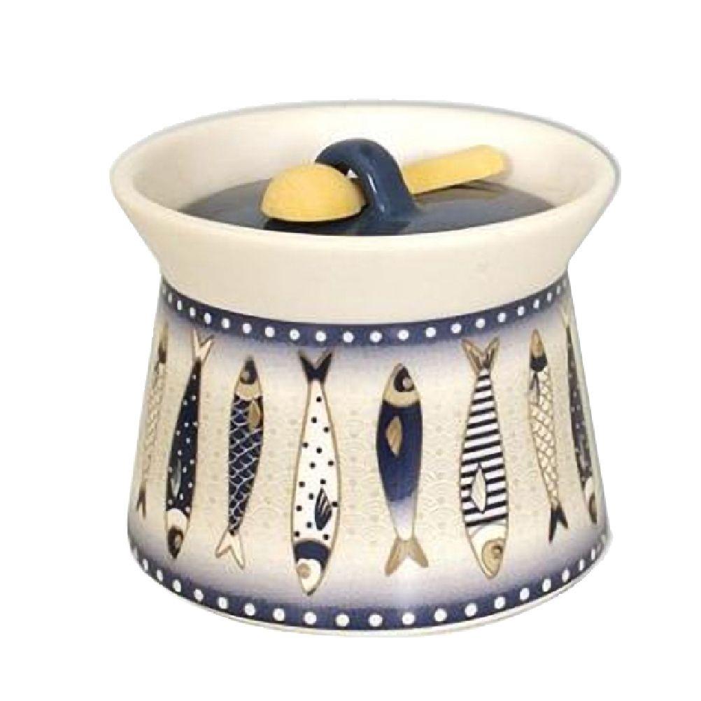 Pot à sel en céramique avec cuillère