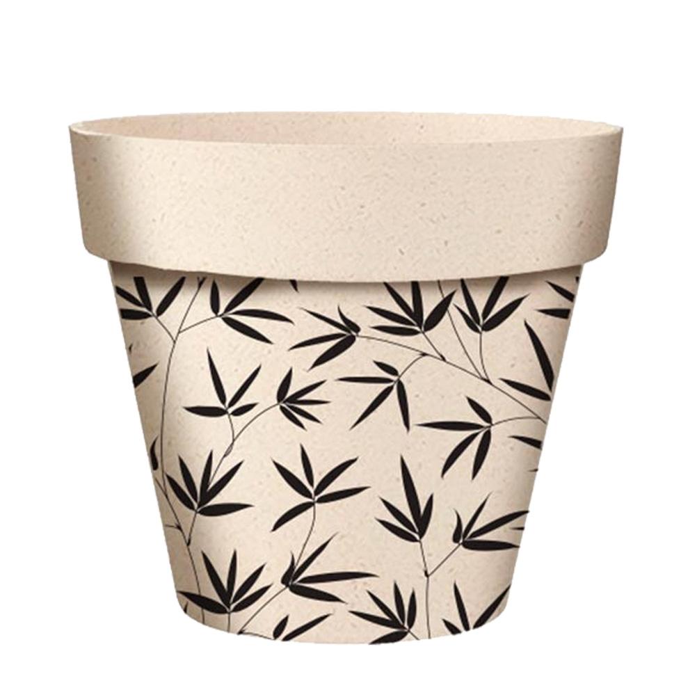 Cache pot feuilles en bambou D13,8cm (photo)