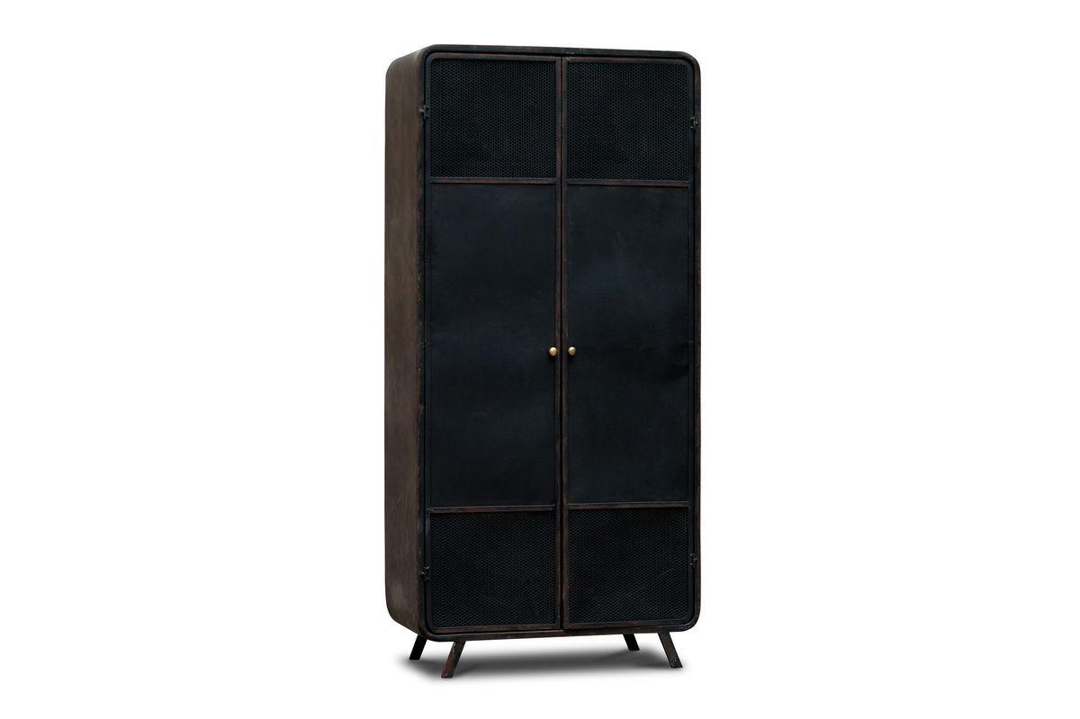 Armoire en métal noir (photo)