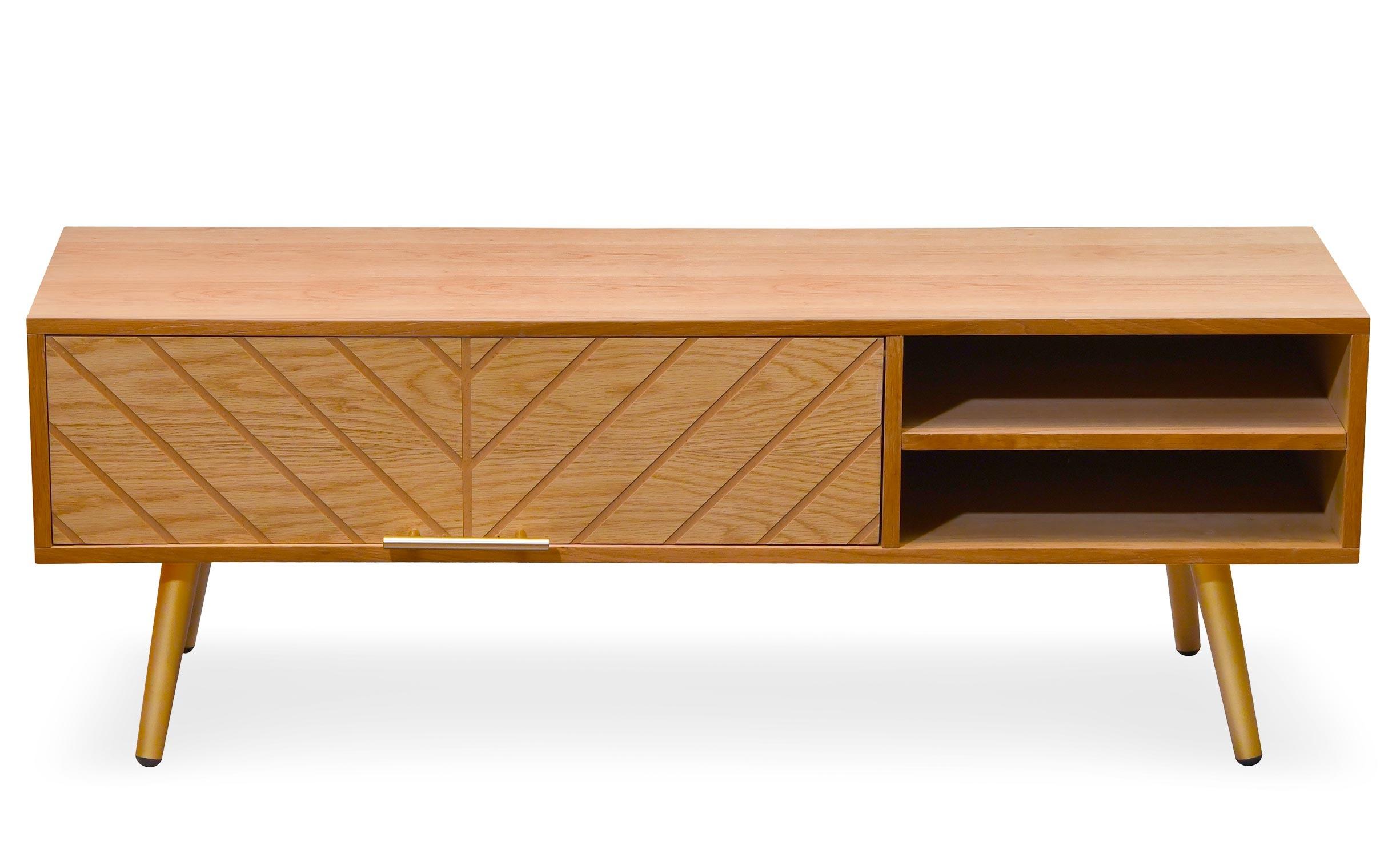 Meuble tv bois design épuré